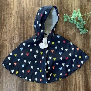 Other - Heart rain poncho